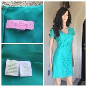 Lilly Pulitzer green dress sparkle size (?)